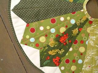 green tree skirt closeup