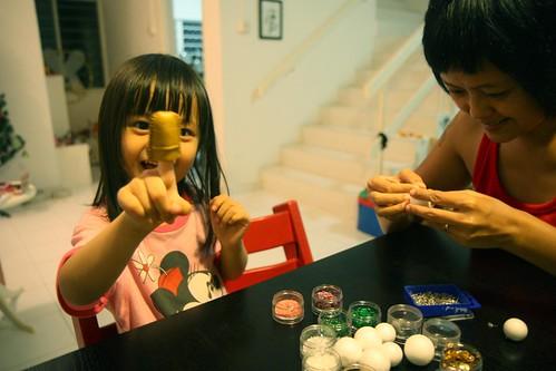 DIY xmas balls decoration