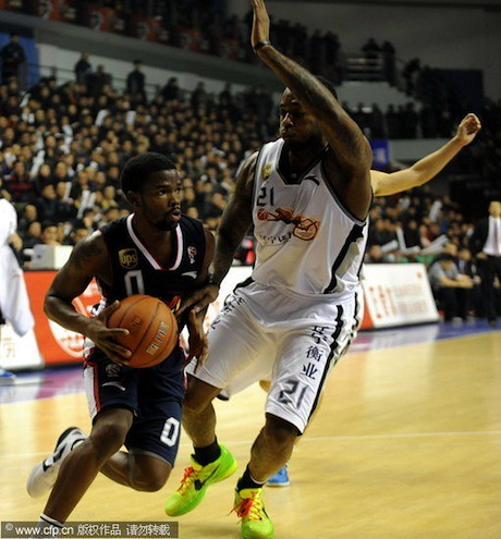 December 14th, 2011 - Aaron Brooks drives to the basket for his Guangdong Dongguan Bank Hongyuan Tigers