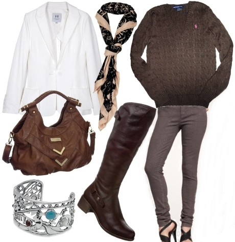 wear riding boots with neutral palettes