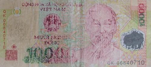 Worn polymer banknote