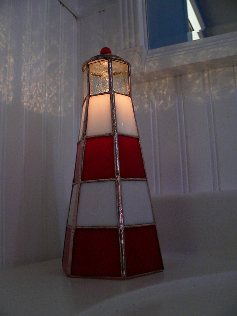 3d Stained Glass Lighthouse Nightlight Flickr Photo