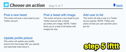 step 5 ifttt