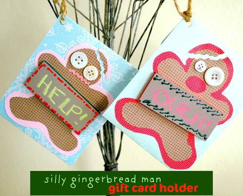 Silly Gingerbread Man Gift Card Holder