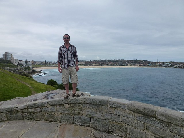 A nice pic of Al with Bondi Beach in the background