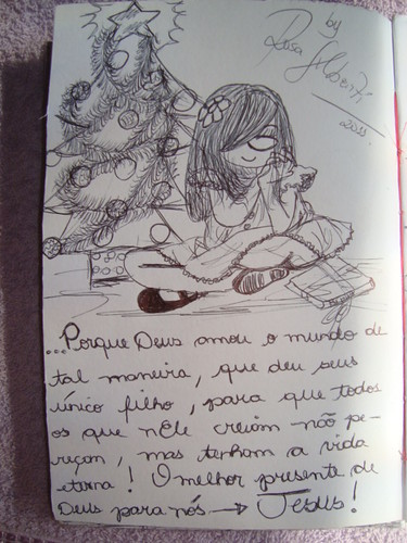 Feliz natal para os leitores queridos do Blog da @meninarosa