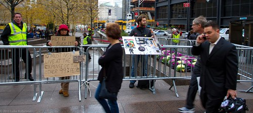 Leftovers of Occupy Wall Street, Zucotti Park
