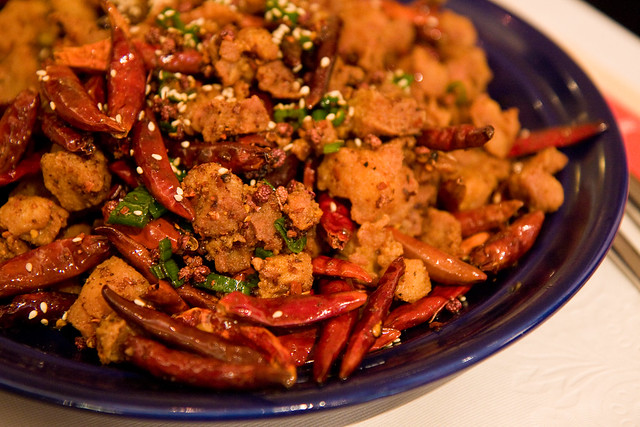 Chongqing diced chicken with chilis, Legend