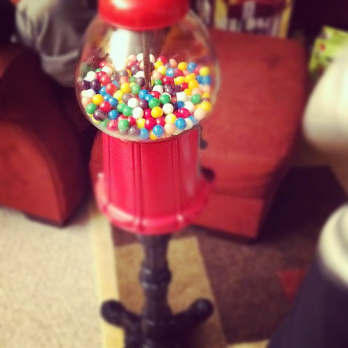 My new vintage gumball machine. Going in my kitchen. Thanks mom.