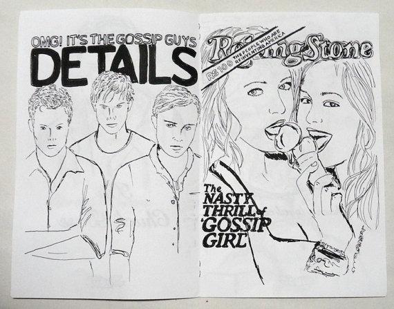 Comic Book gossip girl  Book zine illustrations  a photo on