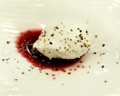 Goat Cheese with Pomegranate Syrup