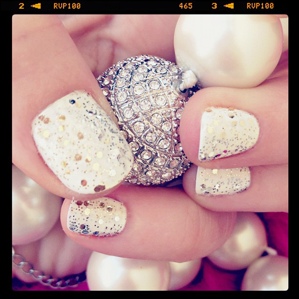 glitter nails - new years eve nails