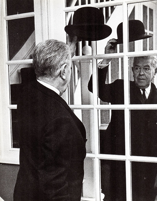 Unknown Author - Photo of Rene Magritte (c1965)