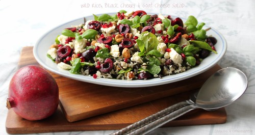 Wild Rice, Black Cherry & Goats Cheese Salad 1