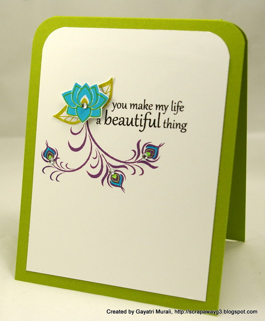 Life beautiful card 2012