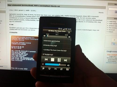 Öreg vasból távirányítható zenelejátszó Ubuntu-val #24
