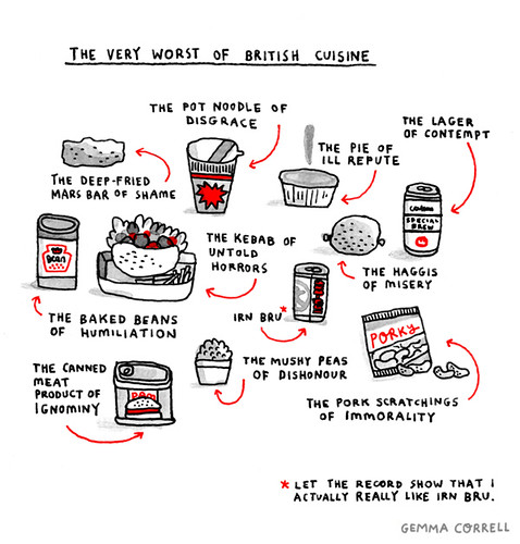 the very worst of British Cuisine (part one) by gemma correll