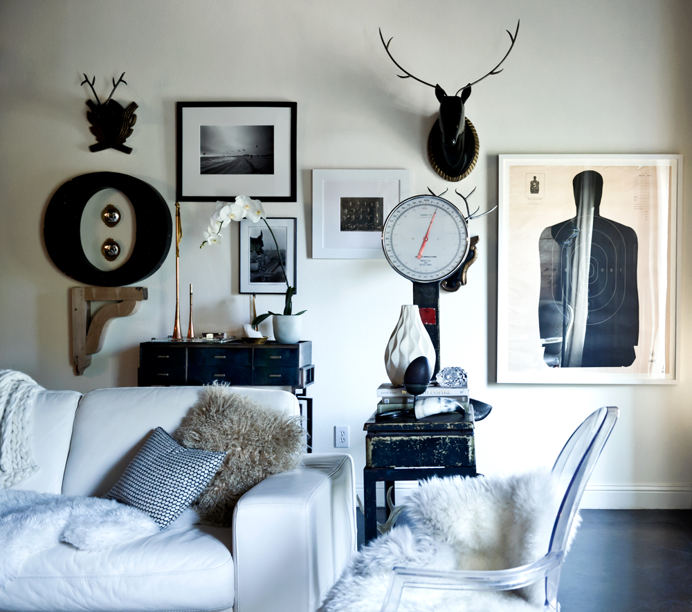 Office Eclectic Room: Rue {black And White Eclectic Scandinavian Modern Living