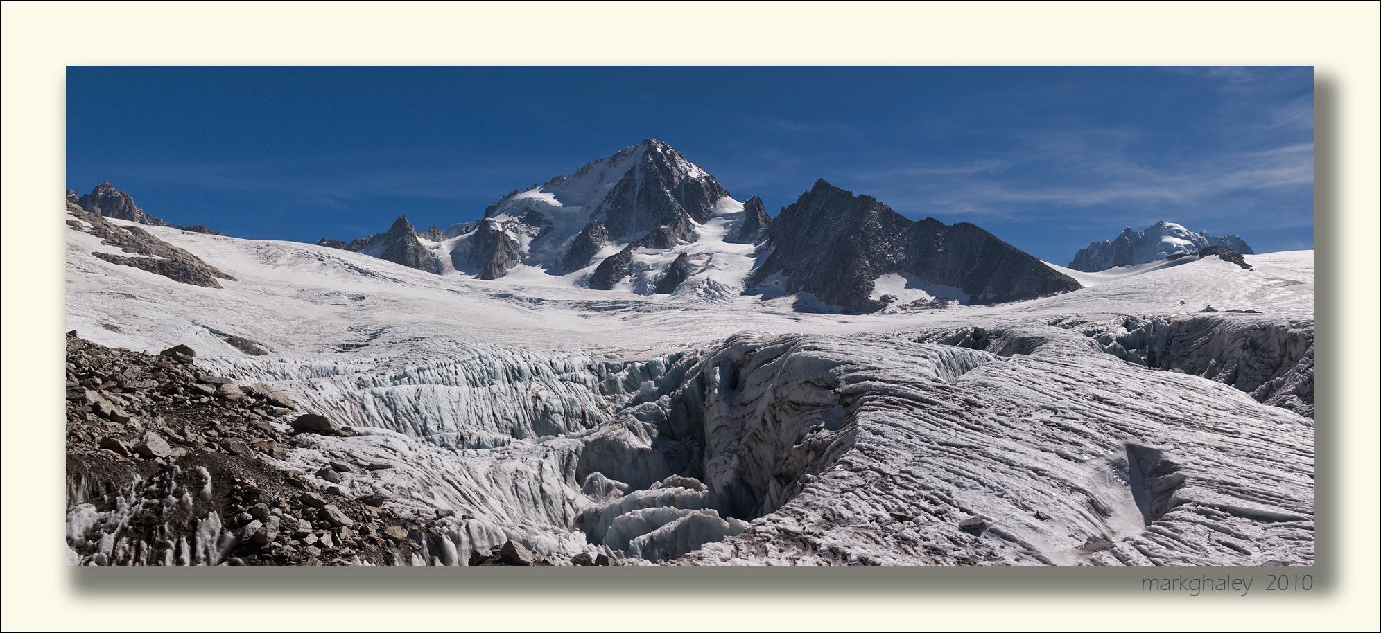 Glacier du Tour, French Alps (B+W)