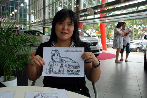 Caricature live sketching for Tan Chong Nissan Almera Soft Launch - Day 2 - 8