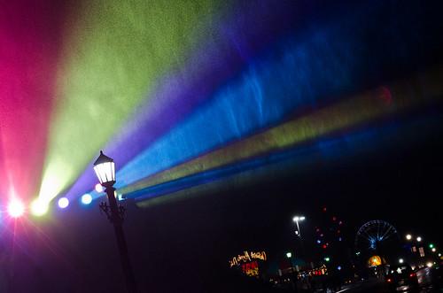 night-time rainbow