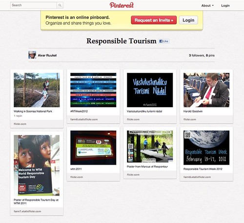 Pinterest: Responsible Tourism Week #rtweek2012