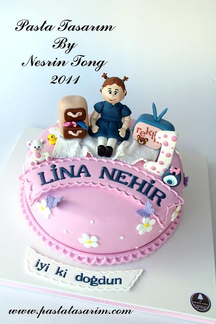 1st BIRTHDAY CAKE - LINA NEHIR