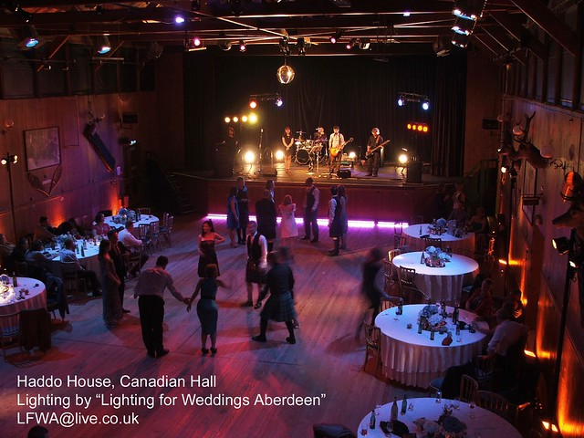Lighting for weddings aberdeen haddo house canadian hall flickr