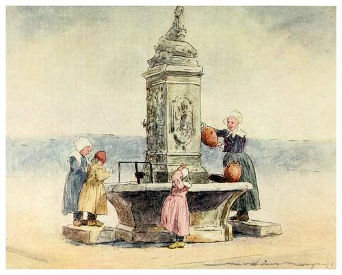 007-En la fuente de Concarneau-Brittany 1912- Mortimer y Dorothy Mempes