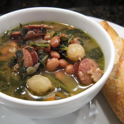 Crock Pot Bean and Sausage Soup