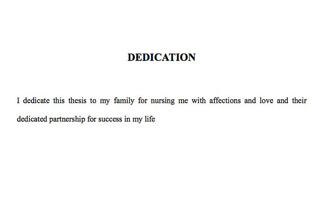 Dedication dissertation god