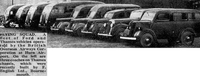A Fleet of new BOAC Vehicles in the 1940s