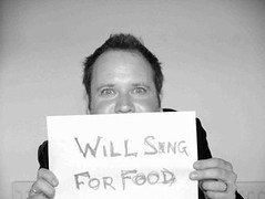 will sing for money