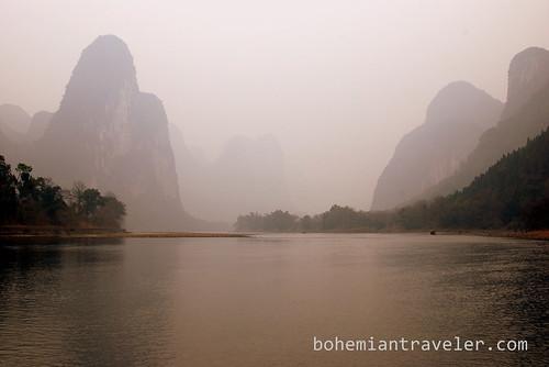 Li River view of mountains