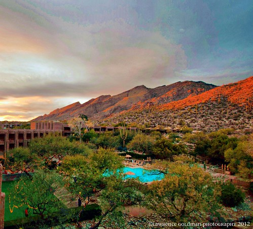 arizona pool tucson resorts sunsetlight travelphotography landscapephotography loewsventanacanyonresort southwesternusa