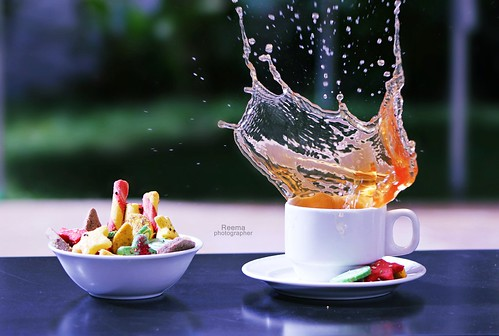 Tea splash ..