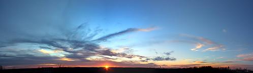 sunset sky panorama sun skyline clouds canon xsi lent454
