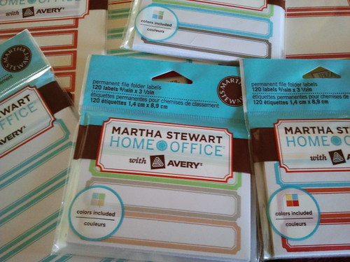 Martha Stewart with Avery Labels