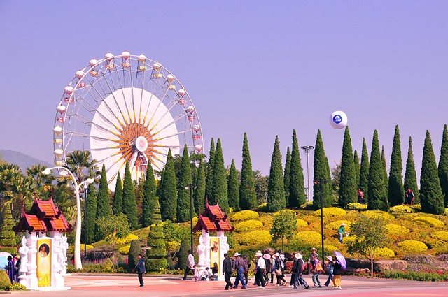 Floral Wheel, Royal Flora, Chiang Mai