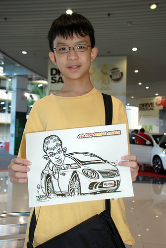 Caricature live sketching for Tan Chong Nissan Motor Almera Soft Launch - Day 4 - 23