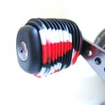 Red White Black Fishing Reel Grip