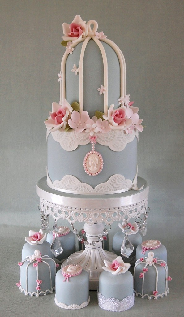 Birdcage Baby Shower Cakes