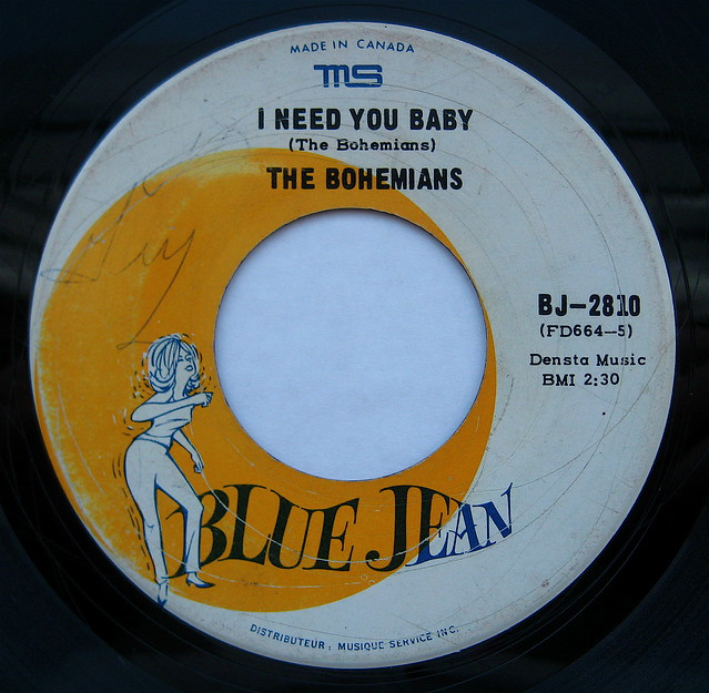 I Need You Baby - The Bohemians - Blue Jean