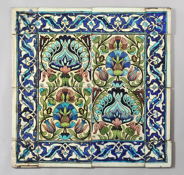 william de morgan persian tiles with border border