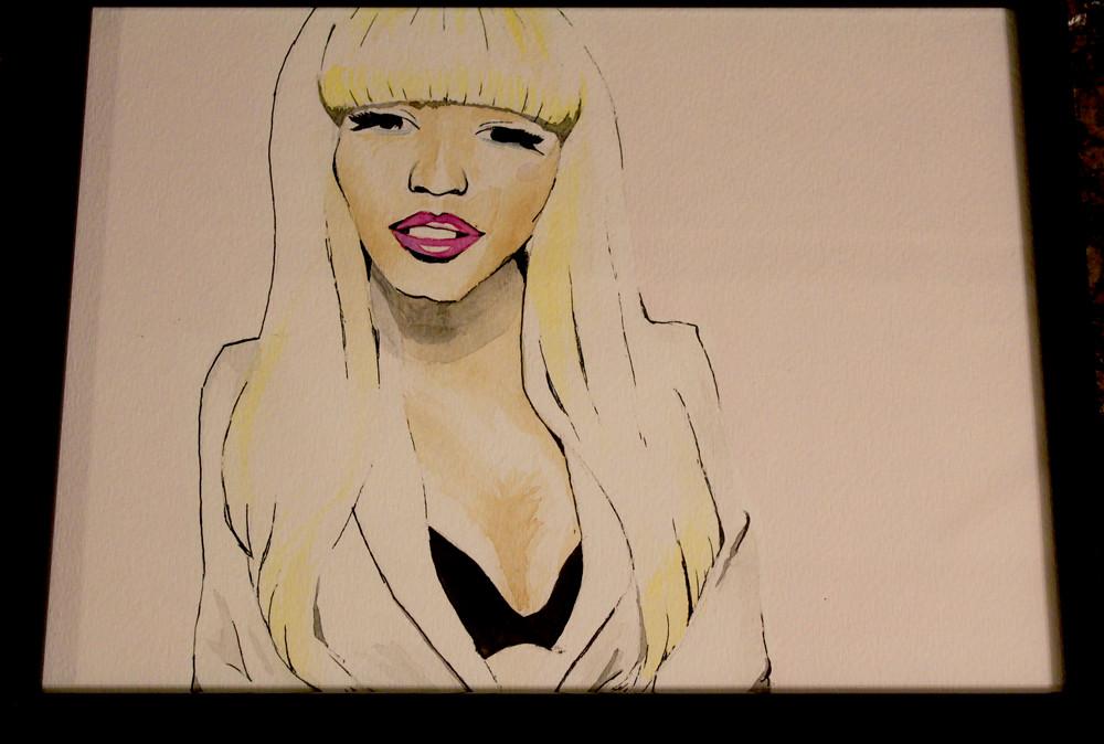 Nicki Minaj watercolor by muahh