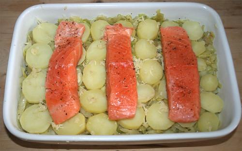 36 - Lachs auflegen / Add salmon