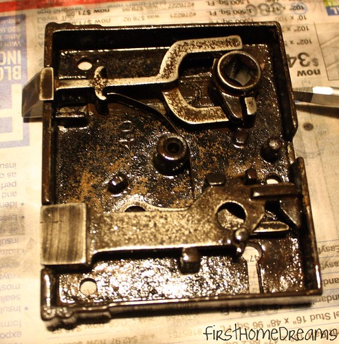 restoring antique cast iron rim lock