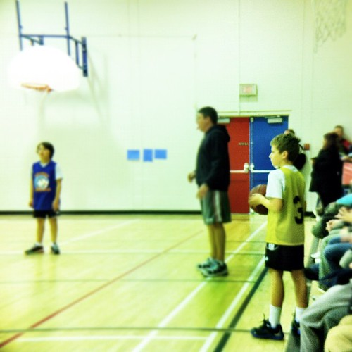 Day 25: Something I made. A future NBA star! Well, maybe. The son who usually prefers reading/writing/building signed up for basketball. Today is his very first game! #janphotoaday