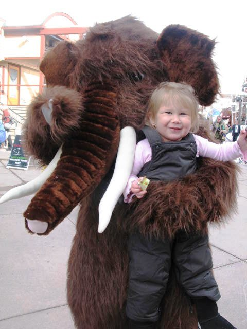 Snowy, the mascot. Photo courtesy Snowmass Tourism.