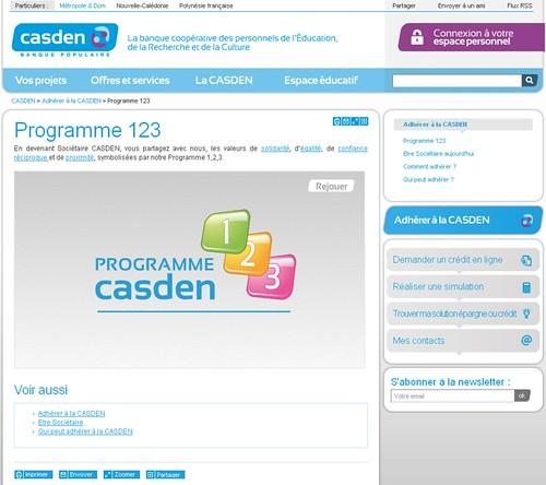 Casden.fr - programme 123